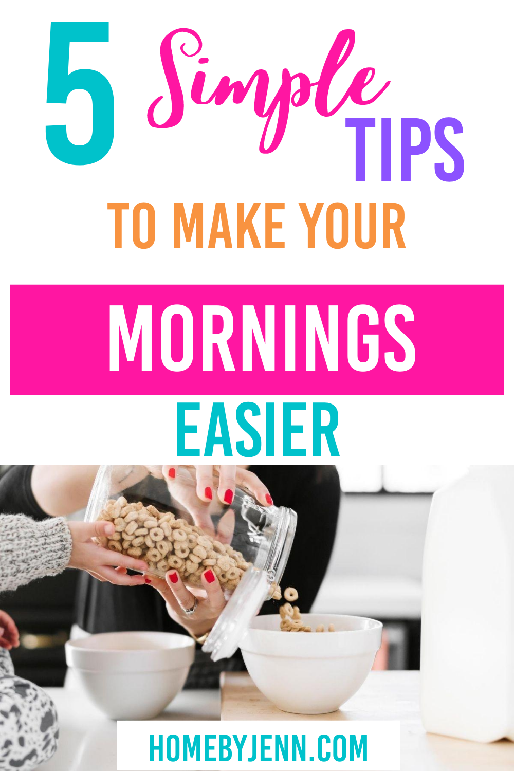 These time saving tips will help your mornings run smoother.  If you find your mornings hectic these time management tips will keep you organized. #timesavingtips #timesavinghacks #timemanagement #timesavingtipsformoms via @homebyjenn