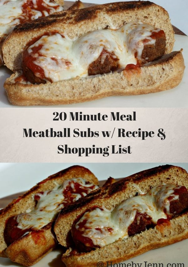 Super Quick Under 20 Minute Meal Meatball Subs