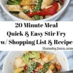 20 Minute Meal Quick & Easy Stir Fry