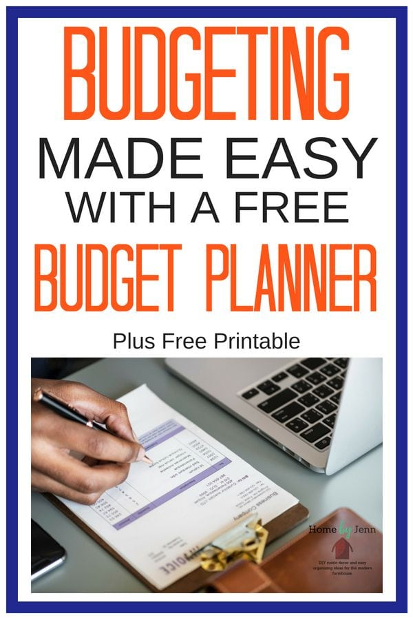 budget planner how to set one up stay organized forever home by