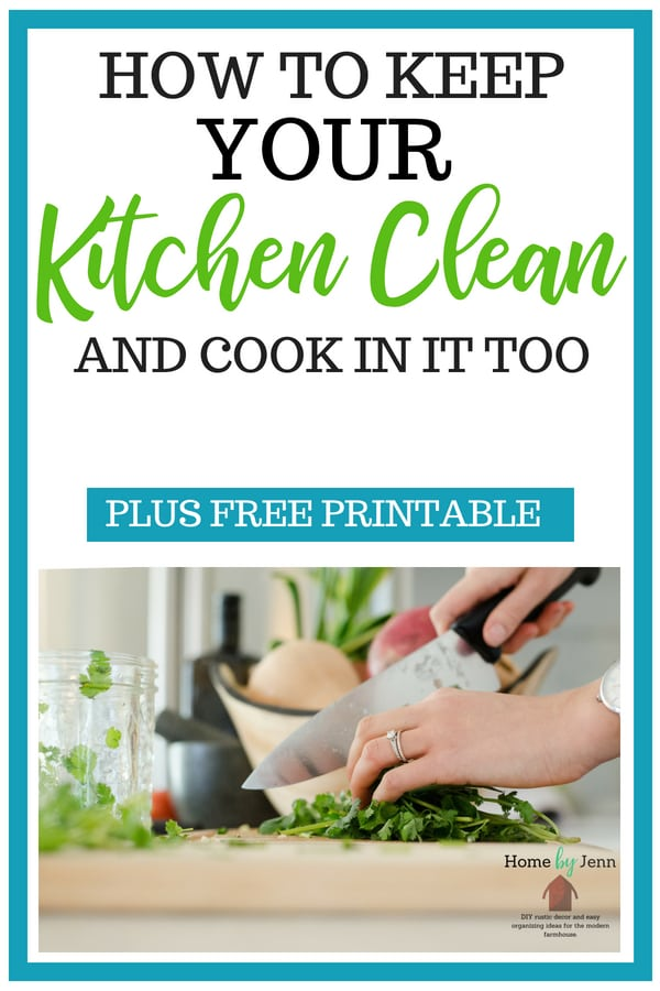 Learn how to have a clean kitchen and cook in it too. Get simple cleaning tips that will help you keep your kitchen clean #cleanhome #cleaning #cleaningtips #kitchen #cleankitchen