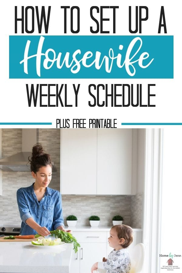 Housewife Weekly Schedule
