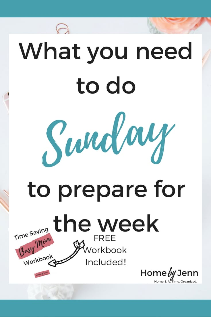 Do you struggle with being organized?  If you find it hard to know what to work on and how to stay organized throughout the week then you need this post.  In this post, you