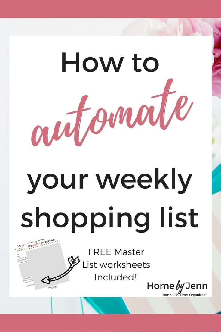 Creating your weekly shopping list can be one of the most frustrating chores that we face each week. Do you find yourself adding some of the same items to your weekly shopping list week after week? If you are ready to save time and put your weekly shopping list on auto pilot then you need this post. I