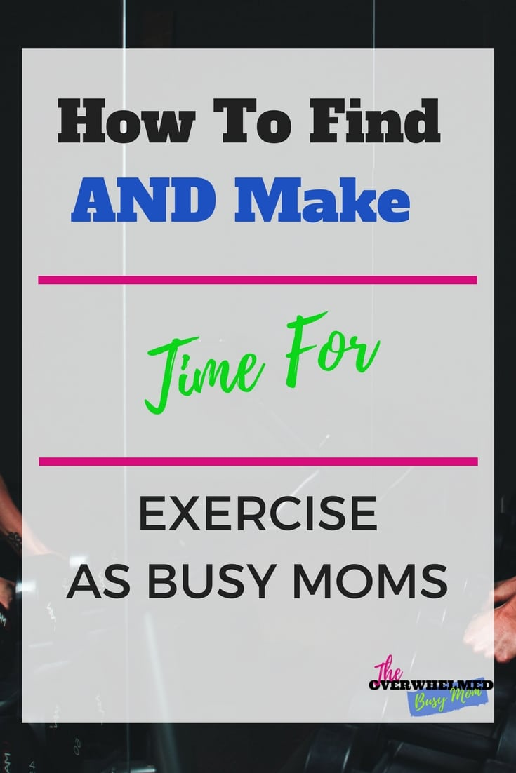 How to find and make time for exercise.  You want to exercise more but you have a hard time finding the time.  In this post, you