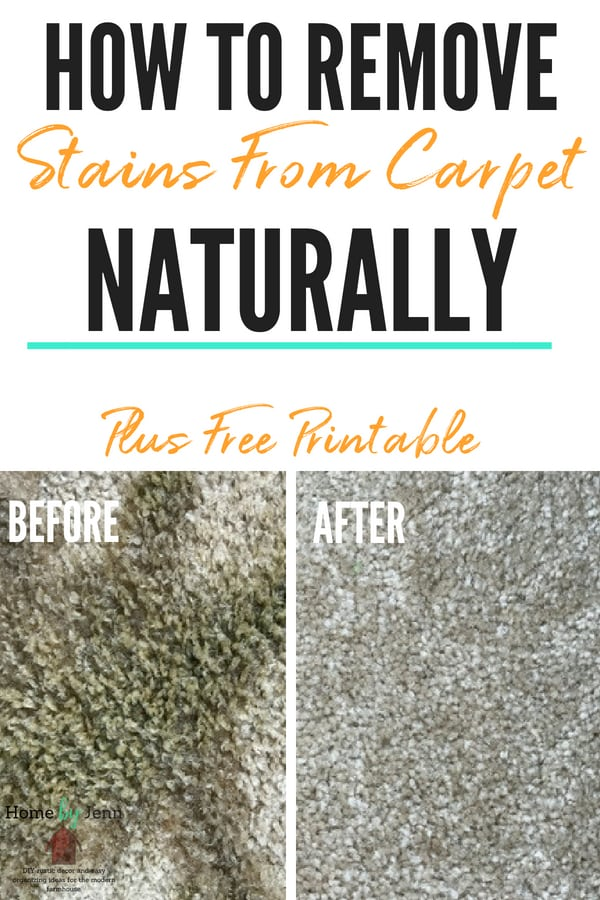 natural carpet stain remover