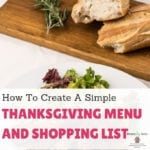 How To Create A Simple Thanksgiving Menu And Shopping List