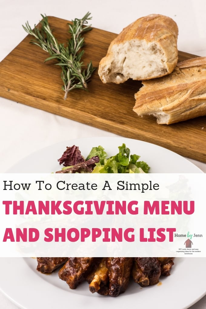 Create a detailed Thanksgiving dinner plan. Organize your Thanksgiving menu and shopping list. #thanksgiving #thanksgivingmenu #thanksgivingshopping #menuplan #holiday