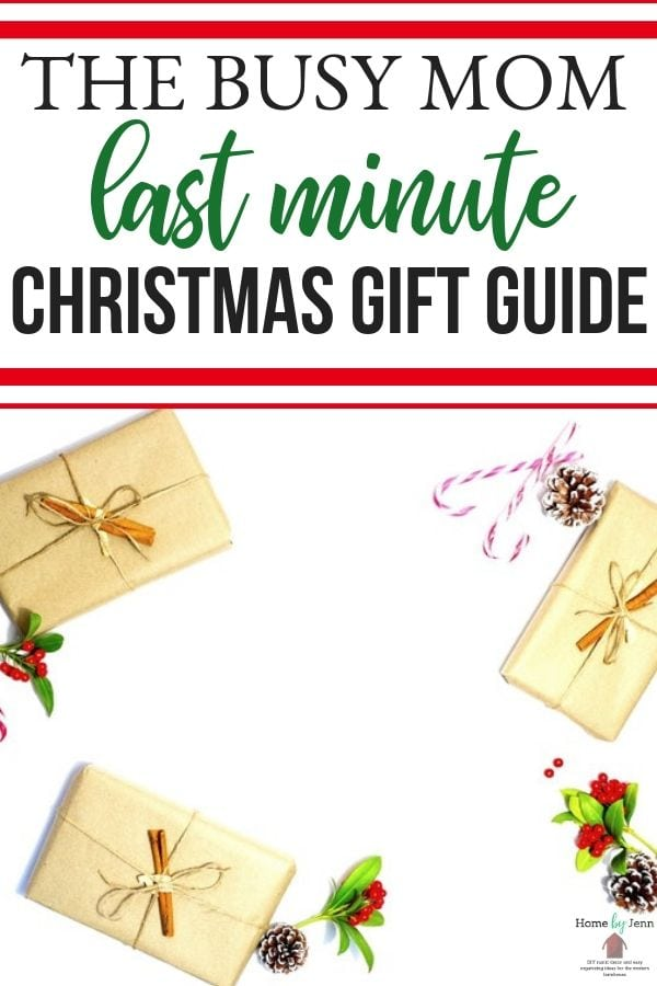 Here is a list of some really amazing last minute gift ideas that you can put together in one afternoon. Great for busy moms and her last minute gift guide. #lastminute #gifts #family #guide #giftguide #whattobuy #holiday  via @homebyjenn