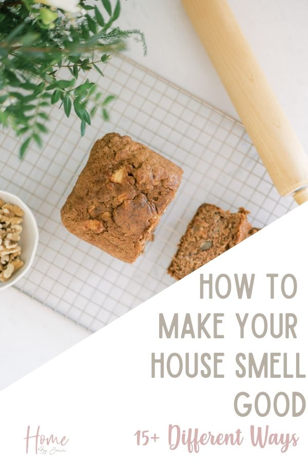 Learn how to make your home smell nice. Easily freshen the smell of your home when you learn how to make your house smell good. #cleanhome #cleaningtips #cleaningtipsandtricks #cleaninghacks via @homebyjenn
