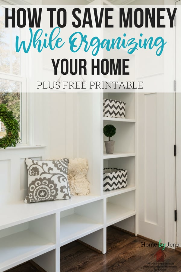Learn how to save money while organizing your home.  These money saving tips will help you with your organizing. #budget #frugal #moneysavingtips #budgetideas #organizingideas #organizedhome