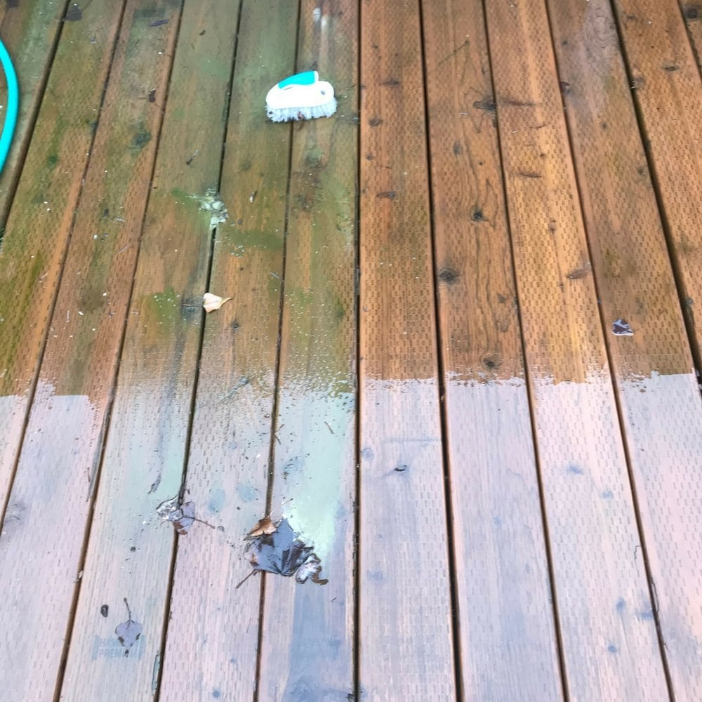 clean deck before and after
