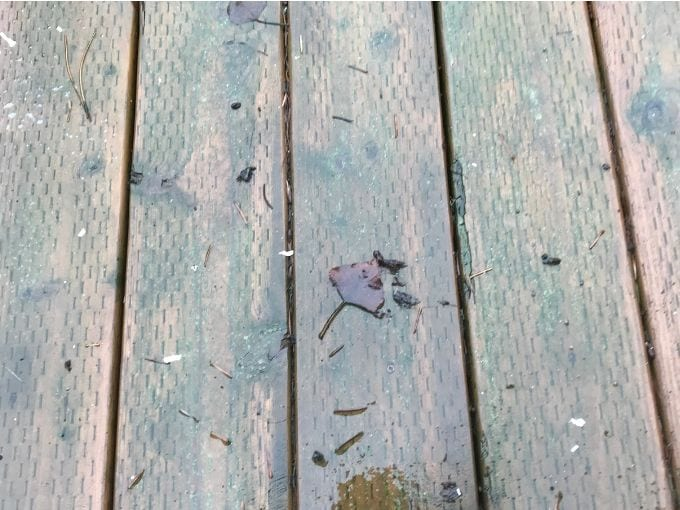 how to clean deck