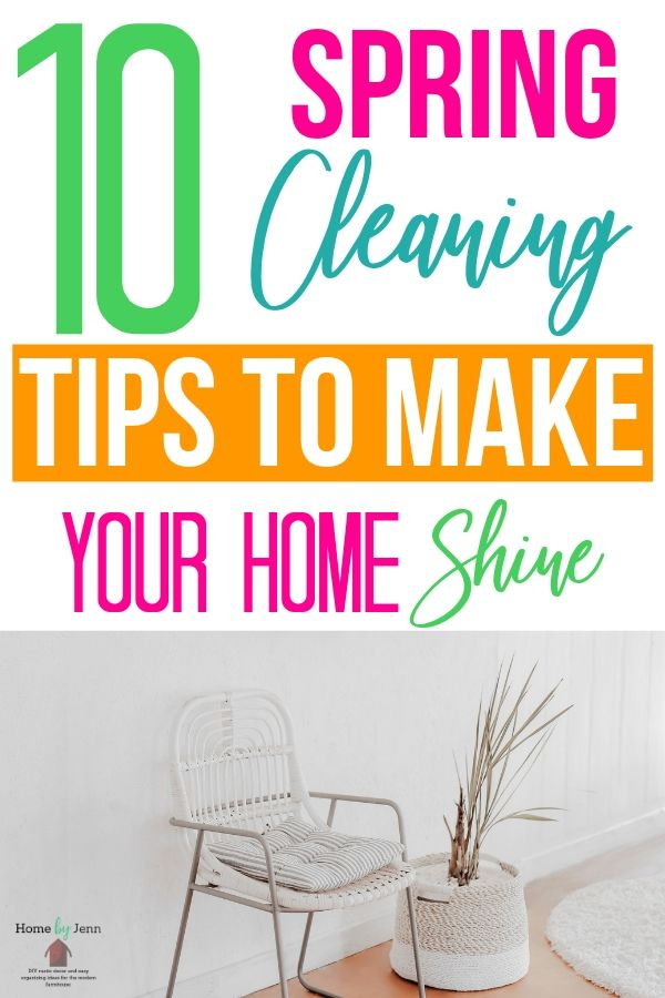 In this post, Jenn shares 10 things you never clean but should, how to clean them and cleaning tips to get you through daily cleaning and your spring cleaning.  She also includes a free Complete Spring Cleaning Checklist to make spring cleaning easier. #cleanhome #springcleaning #cleaningschedule #springcleaningchecklist #springcleaningtips #wheretostartcleaning  #springcleaninglist #declutter  via @homebyjenn