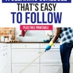 How to complete your household chores with a cleaning schedule