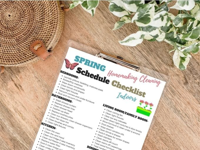 Spring cleaning checklist for the home