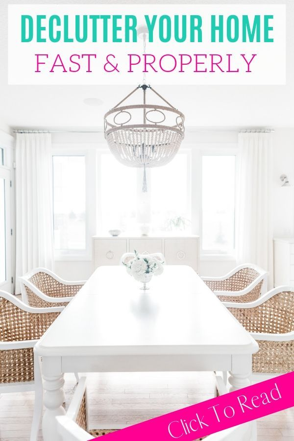 kitchen table white and clean