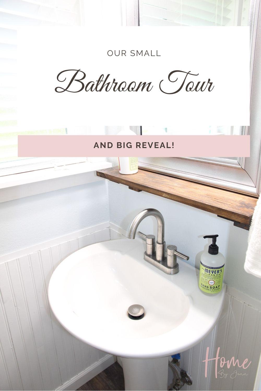 Small Bathroom Tour and Big Reveal! via @homebyjenn