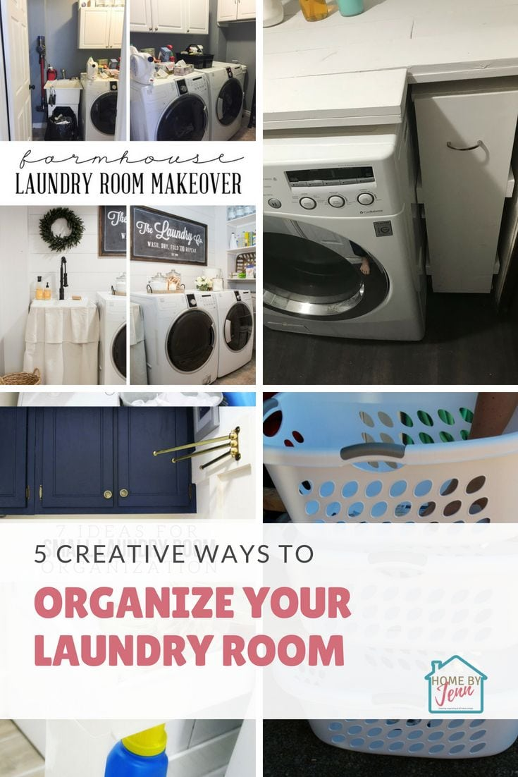 Get inspired to organize your laundry room with these laundry room organization ideas. #laundryroom #laundry #organizing #organize #organizingideas