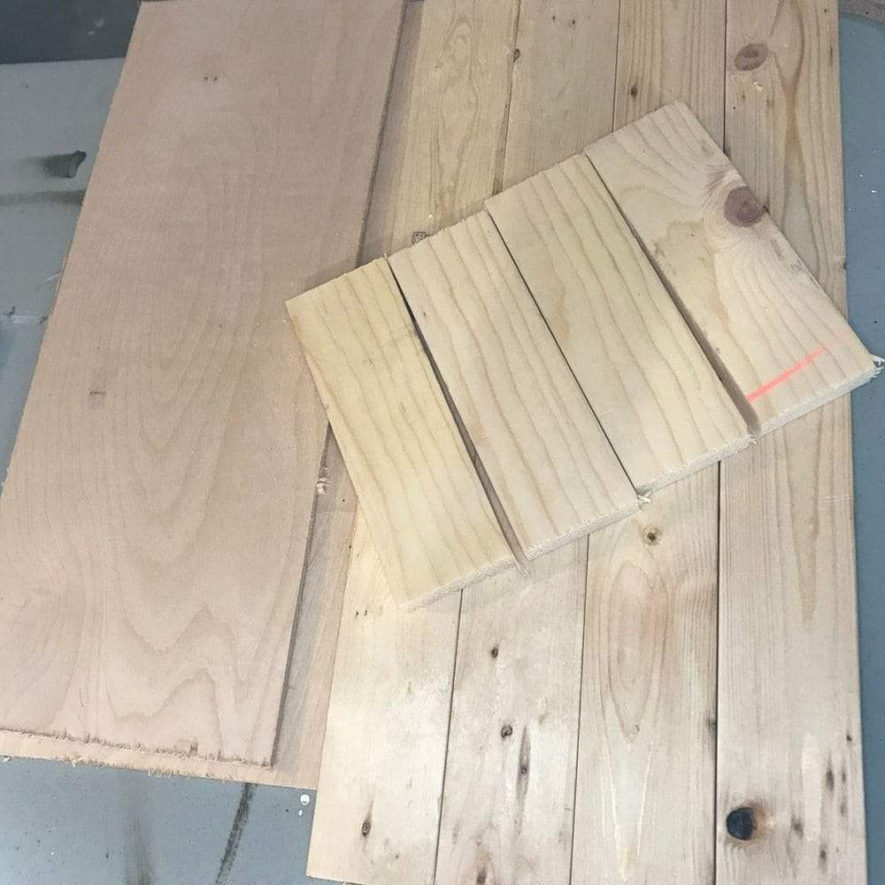 make necessary cuts to the door wood