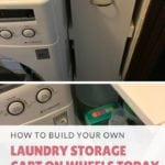 Build Your Own Laundry Storage Cart On Wheels Today