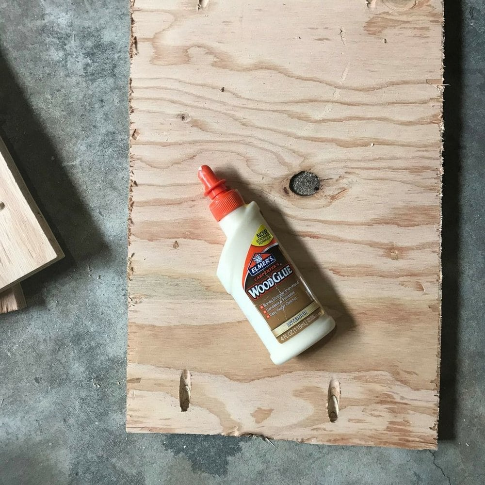 bottom shelf and wood glue with pocket holes.