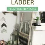 How to build a $5 rustic blanket ladder