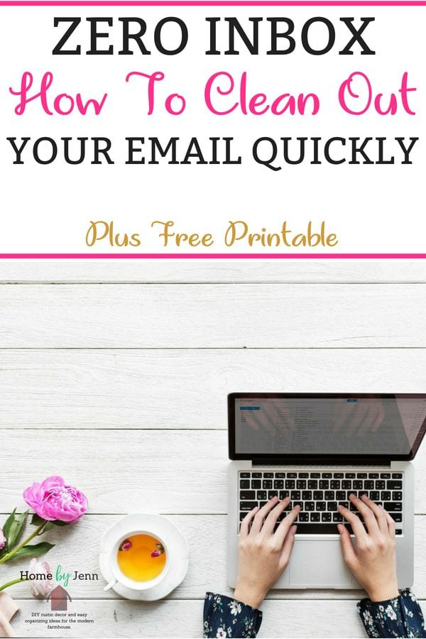 Clean out your inbox easily with these inbox zero organizing tips.  #organizing #inbox #inboxzero #organizingtips #organizingideas #organizeelectronicfiles