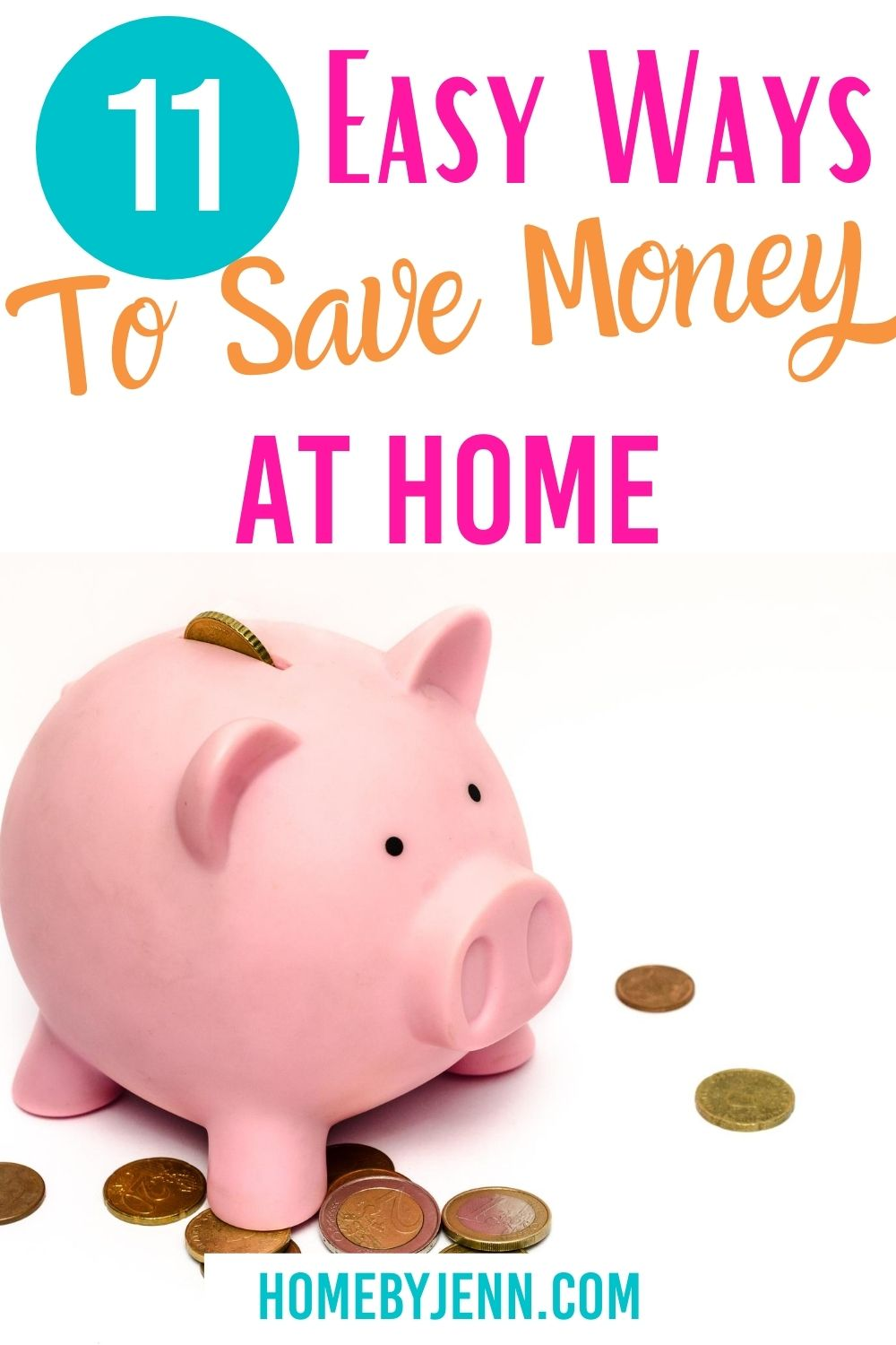 Make a few changes around the house and start saving money. These money-saving tips will allow you to save money around the house without feeling like you're sacrificing. via @homebyjenn