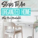 10 Steps To Organizing Your Home