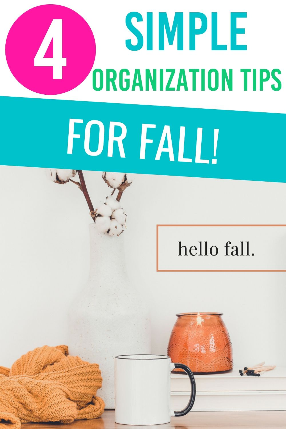 Become organized for fall with these fall organizing tips. Learn what you should focus on before the cold weather hits. #organizing #organizingtips #fall #fallorganizing via @homebyjenn