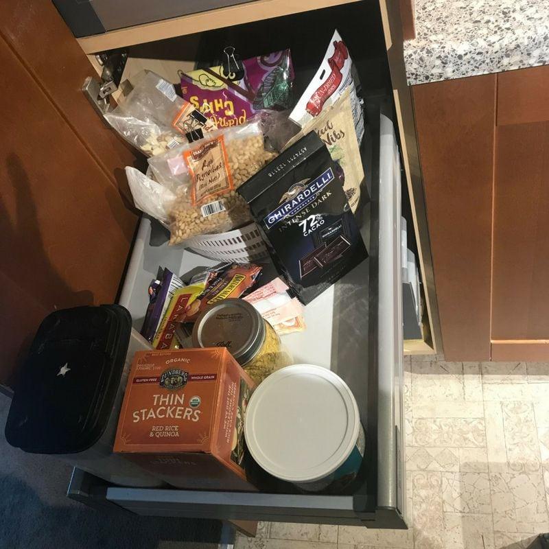 unorganized pantry drawer