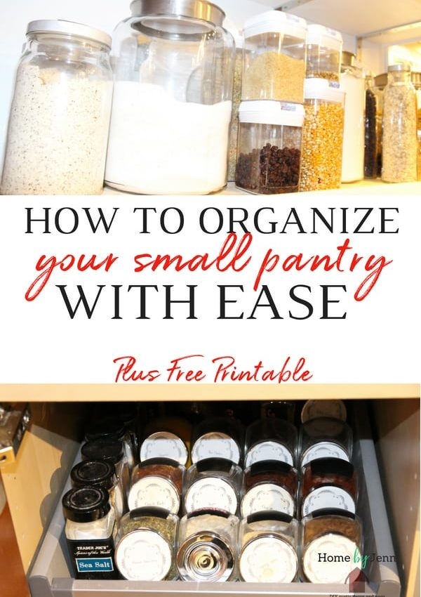How To Organize your Small Pantry With Ease