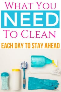 cleaning schedule