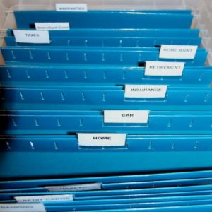 Filing system for household is important to create a paper clutter system.