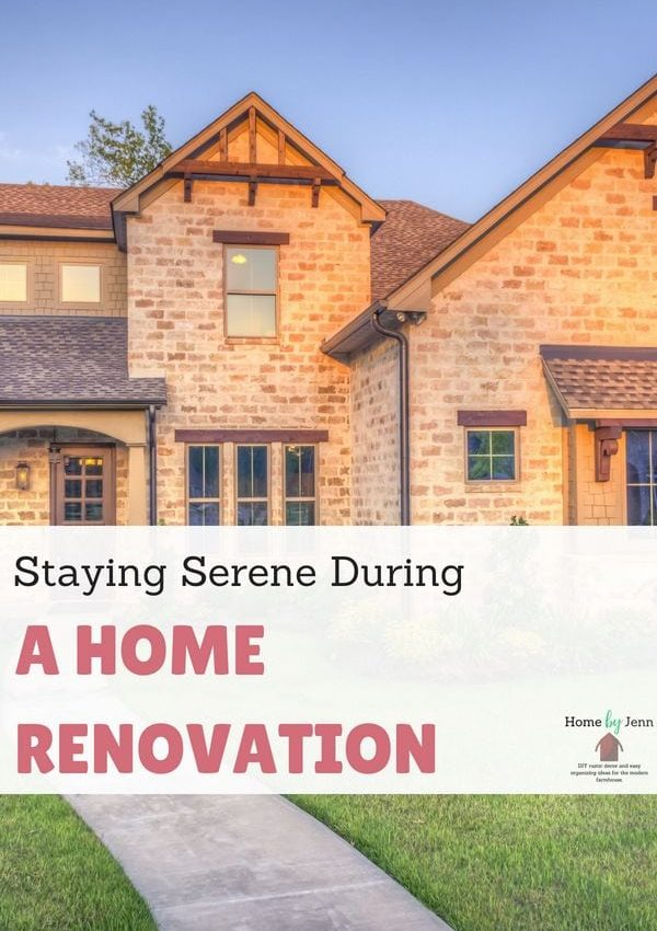 Staying Serene During A Home Renovation