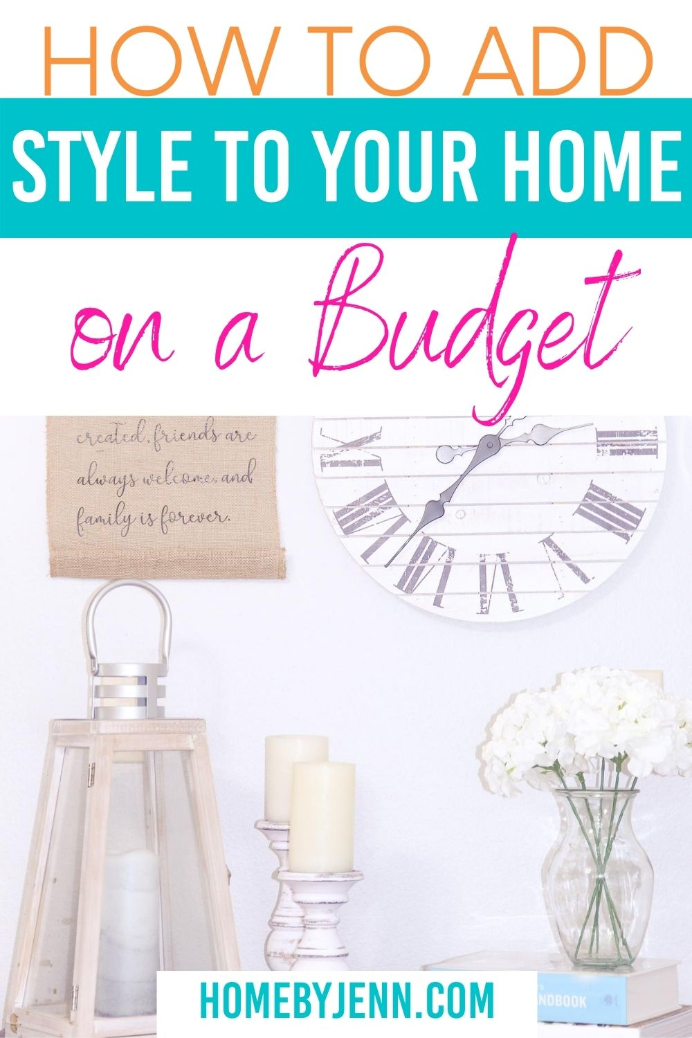 Decorating your home and trying to find your style is a struggle for many people. Learn how to add style to your home that fits your design style. Doing this slowly will allow you to get your home to the way you want it. via @homebyjenn
