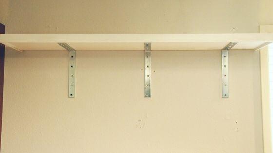 top kitchen shelve installed