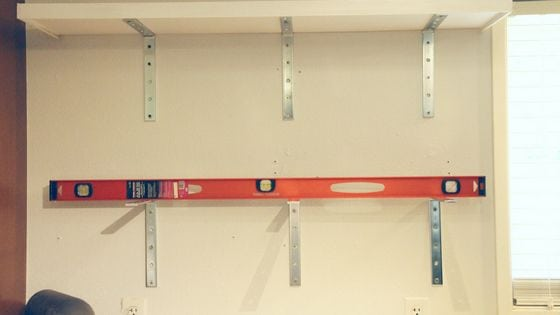 installing lower kitchen shelf