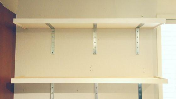 kitchen shelves installed
