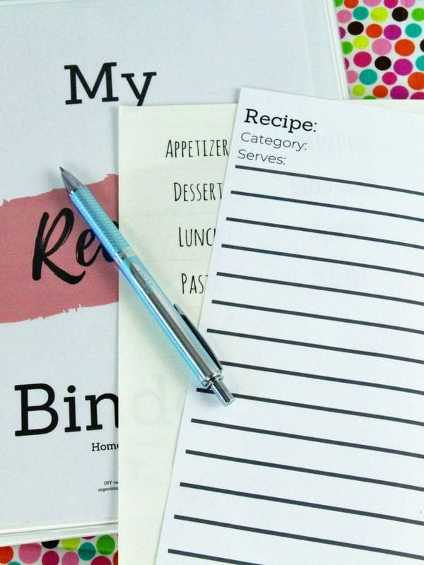 How to Make a Recipe Organizer Binder