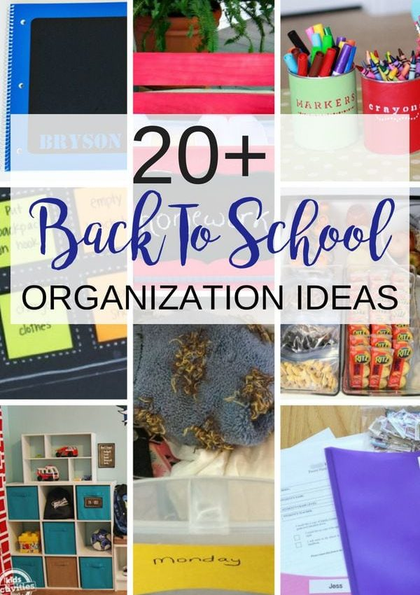 Get more than 20 back to school organization ideas