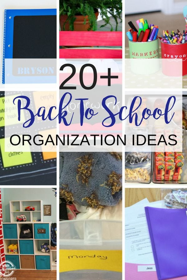Organization for school is hard to do with the sun out but you'll find more than 20 back to school organizing ideas to get you and your family ready for school.  Enjoy back to school checklists, homework stations, and so much more in this post.