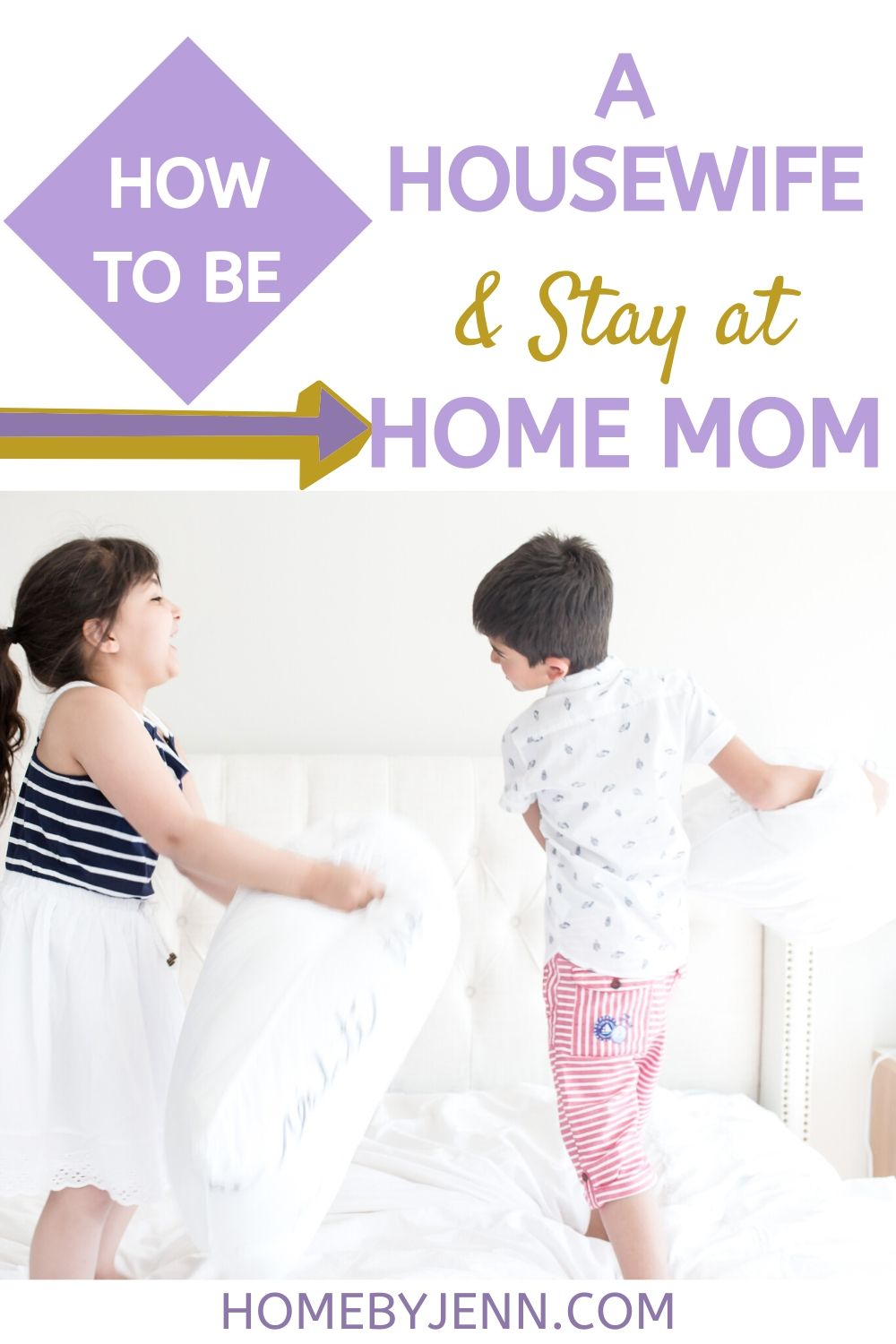 We as women put too much pressure on ourselves to become a perfect housewife and stay at home mom. In this post, I share my experiences with you about how I was able to become a successful stay at home mom and how I was able to balance housework, everyone's schedule, and get dinner on the table most nights. #SAHM #housewife #howtobeahousewife #WAHM #stayathomemom via @homebyjenn
