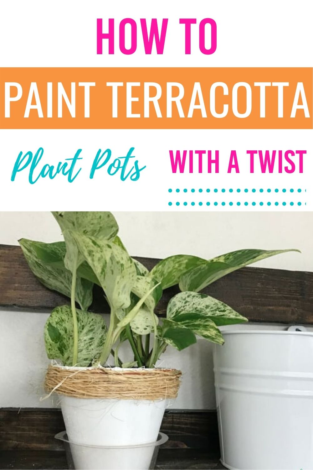 Update old terracotta pots with a few supplies at home and learn how to paint a terracotta pot. #DIY #crafts #terracotta #howtopaintterracottapots via @homebyjenn