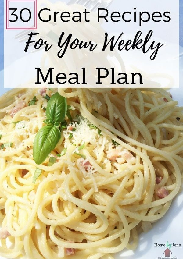 Weekly Meal Plan Recipes