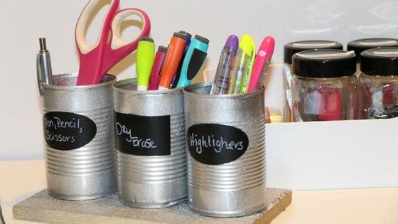 DIY desk organizer idea
