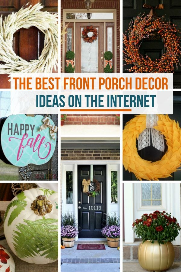 Fall wreaths and outdoor decor