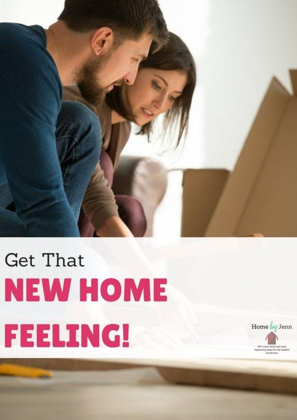 new home feeling