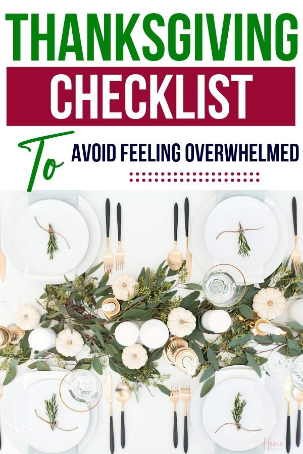 How to organize your Thanksgiving week to avoid overwhelm. These time management tips for Thanksgiving will help you be less stressed this Thanksgiving.  Use the free Thanksgiving checklist to stay organized. #thanksgiving #timemanagementtips #timesaving #timesavingtips #timemanagement #momhack #celebrations #feast via @homebyjenn